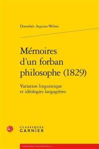 Mémoires d'un forban philosophe (1829)