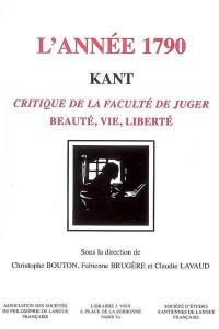 L'année 1790, Kant