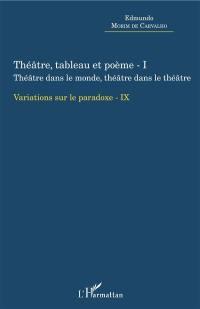 Théâtre, tableau et poème. Volume 1, Théâtre dans le monde, théâtre dans le théâtre