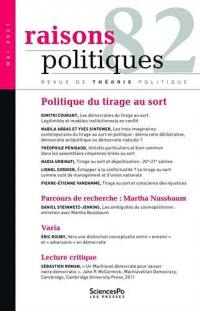 Raisons politiques. n° 82, Politique du tirage au sort