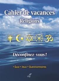 Cahiers de vacances religions