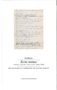 Ecrits intimes