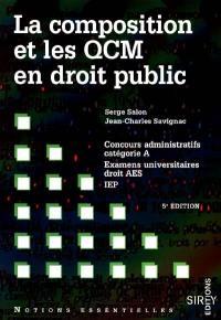 La composition et les QCM en droit public
