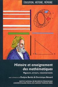 Histoire et enseignement des mathématiques