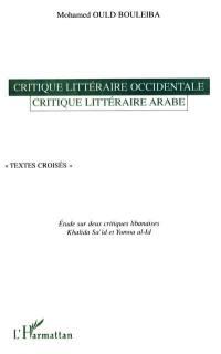Critique littéraire occidentale, critique littéraire arabe