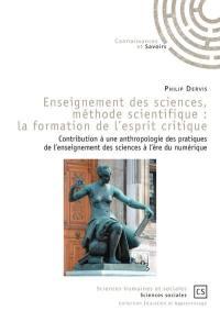 Enseignement des sciences, méthode scientifique