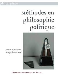 Méthodes en philosophie politique