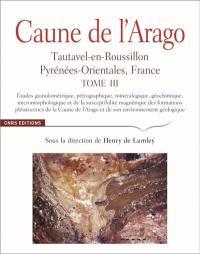Caune de l'Arago. Volume 3, Etudes granulométrique, pétrographique, minéralogique, géochimique, micromorphologique et de la susceptibilité magnétique des formations pléistocènes de la Caune de l'Arago et de son environnement géologique