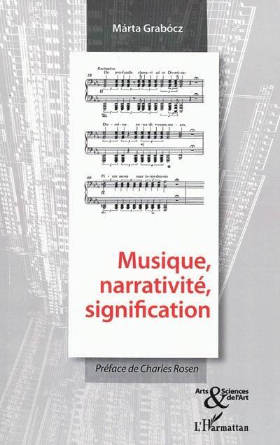 Musique, narrativité, signification