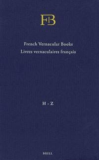 Livres vernaculaires français
