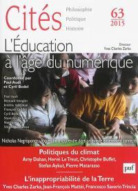 Cités. n° 63, L'éducation à l'âge du numérique