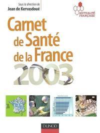 Carnet de santé de la France 2003