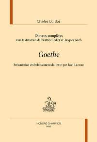 Oeuvres complètes, Goethe