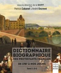 Dictionnaire biographique des protestants français. Volume 2, D-G