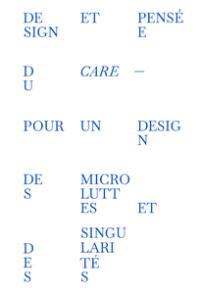 Design et pensée du care