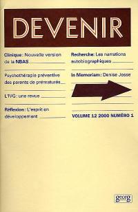 Devenir. n° 1 (2000),