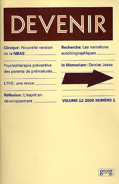 Devenir, n° 1 (2000)