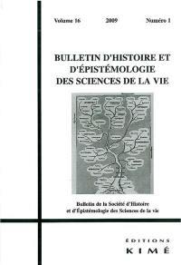 Bulletin d'histoire et d'épistémologie des sciences de la vie. n° 16-1, Mosaïque