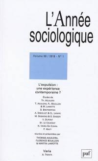 Année sociologique (L'). n° 1 (2018), L'expulsion