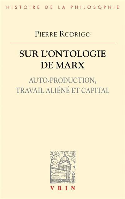 Sur l'ontologie de Marx
