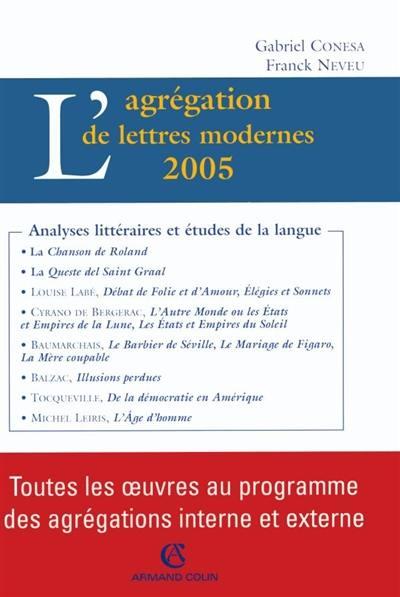 L'agrégation de lettres modernes, 2005