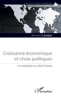 Croissance économique et choix politiques