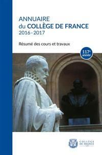 Annuaire du Collège de France 2016-2017