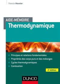 Aide-mémoire de thermodynamique