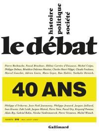 Débat (Le). n° 210, 40 ans