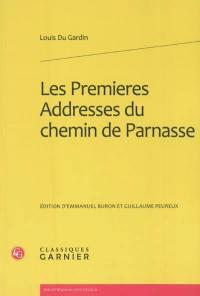 Les premieres Addresses du chemin de Parnasse