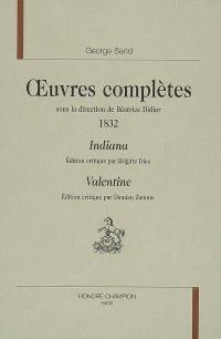 Oeuvres complètes, 1832