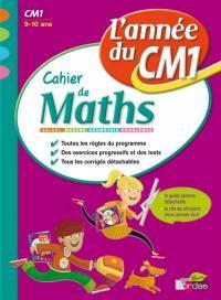 Cahier de maths, l'année du CM1, 9-10 ans
