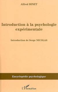 Introduction à la psychologie expérimentale (1894)