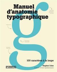 Manuel d'anatomie typographique