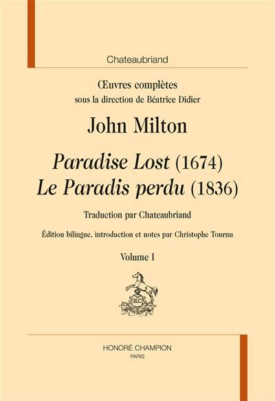 Oeuvres complètes, Paradise lost (1674)