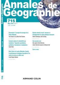 Annales de géographie. n° 715,