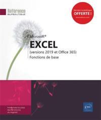 Excel 2019 (versions 2019 et Office 365)