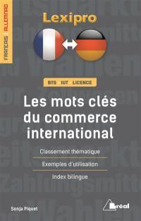 Les mots clés du commerce international, français-allemand