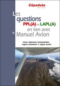 Les questions PPL(A) ou LAPL(A) en lien avec le manuel avion