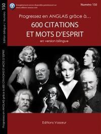 Progressez en anglais grâce à... 600 citations et mots d'esprit