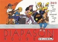 Diapason rouge. Volume 5, Carnet de 360 chants avec accords