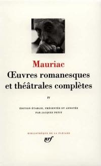 Oeuvres romanesques et théâtrales complètes. Volume 4,