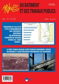 Annales du bâtiment et des travaux publics. n° 5-6 (2018),