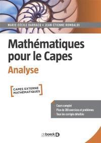 Mathématiques pour le Capes, Analyse