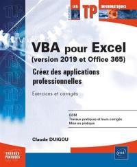VBA pour Excel (version 2019 et Office 365)