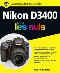 Nikon D3400 pour les nuls
