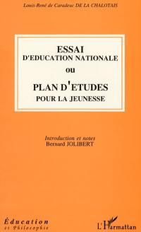 Essai d'éducation nationale ou Plan d'études pour la jeunesse