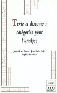 Texte et discours