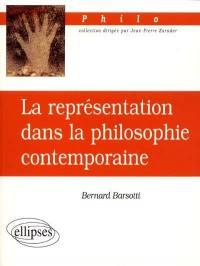 La représentation dans la philosophie contemporaine