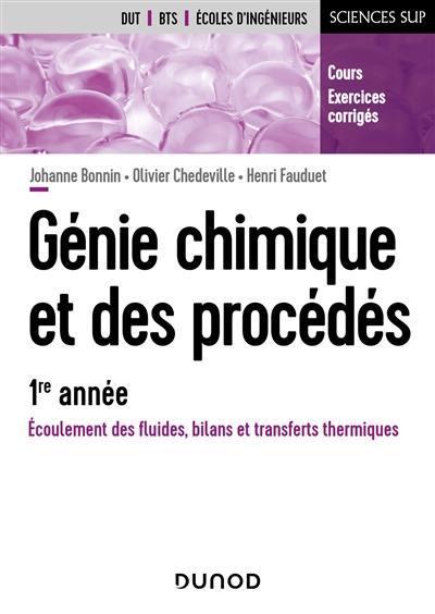 Génie chimique et des procédés, 1re année